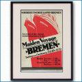 1929年 客船ブレーメンのポスター 2600LL黒