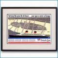 1949年 客船イルドフランス・再就役見開き雑誌広告 2601LL黒