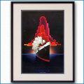 1970年代 客船クイーンメリーのポスター 2620LL黒