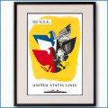 1952年 ユナイテッドステーツラインのポスター 2671LL黒