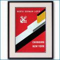 1960年代 北ドイツロイドライン客船ポスター 2719LL黒