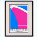 1983年 タイム クイーンエリザベス2のポスター黒
