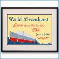 1934年 客船クイーンメリー進水式のポスター 2765LL黒