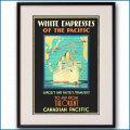 1930年 客船エンプレス・オブ・ジャパンのポスター黒