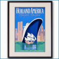 1979年 ホーランドアメリカライン 客船ロッテルダムのポスター 黒