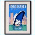 1979年 ホーランドアメリカライン 客船ロッテルダムのポスター 2868LL黒