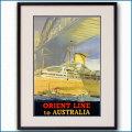 1948年 客船オーカデスのポスター黒