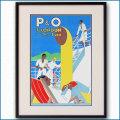 1937年 フランク・ヒンダー P&Oのポスター 黒