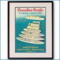 1951年 客船エンプレス・オブ・スコットランド(ジャパン)のポスター 2950LL黒