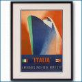1948年 イタリアンラインの客船ポスター 2954LL黒
