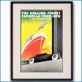 1970年 ローリングストーンズ欧州ツアーのポスター黒