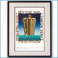 1991年  ラッツィア カッサンドルへのオマージュ ルイ・ヴィトンのポスター黒