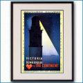 1927年 カッサンドル ロンドン・ダンケルク ALA英仏海峡連絡船のポスター黒