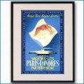 1936年 ロンドン・パリ寝台フェリーサービス ワゴン・リのポスター黒