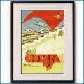 1930年 ソビエト連邦旅行局広報部 オデッサのポスター黒