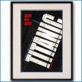 1997年 映画タイタニックのポスター黒