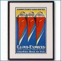 1932年 ロイス・ガイッグ 北ドイツロイドラインのポスター 黒