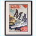 1948年 アルバート・バーネット 客船ラ・マルセイユのポスター 黒