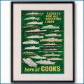 1957年 トーマス・クックのポスター 黒