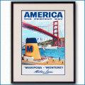 1955年 ルイ・マクーリアル 客船マリポサとモントレイのポスター 黒
