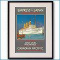 1930年 チャールズ・ディクソン 客船エンプレス・オブ・ジャパンのポスター 黒
