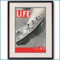 1937年 客船クイーンメリー・LIFE誌4月19日号カバー 3081LL黒