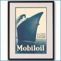 1935年 ジャン・ピオベール 客船ノルマンディー・モービル石油雑誌広告 3082LL黒