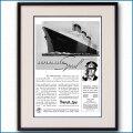 1937年 客船ノルマンディー雑誌広告 3110LL黒