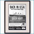 1947年 客船クイーンメリー モービル石油雑誌広告 3116LL黒