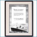 1946年 客船クイーンエリザベス・大西洋航路就役雑誌広告 3121LL黒