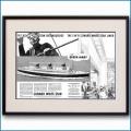 1936年 客船クイーンメリー・就役見開き雑誌広告 3153LL黒