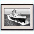 1952年 客船ユナイテッドステーツ・公試運転の写真 3223LL黒
