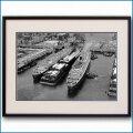 1948年 客船クイーンメリーとクイーンエリザベスの写真 3255LL黒