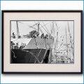 1967年 客船クイーンメリー・サウザンプトン出航の写真 3266LL黒