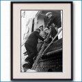 1950年 客船リベルテ・ニューヨーク港外パイロット乗船の写真 3295LL黒
