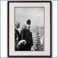 1951年 客船イル・ド・フランス オリオール大統領・ニューヨーク到着の写真 3316LL黒