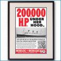 1936年 客船クイーンメリー・モービル石油雑誌広告 3338LL黒