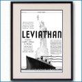 1934年 客船リヴァイアサン雑誌広告 3342LL黒