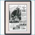 1939年 客船アメリカ・進水命名 雑誌広告 3350LL黒