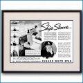 1939年 キュナードホワイトスター・客船クイーンメリー見開き雑誌広告 3366LL 黒
