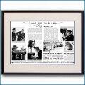 1933年 キュナード・ウィリアム・マクフィー・見開き雑誌広告 3371LL 黒