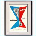 1952年 ユナイテッドステーツラインのポスター 3379LL黒