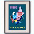 1955年 パット・ネビン キュナードのポスター 3389LL黒