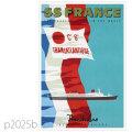 フレンチライン・客船フランス(1962)のポスター | レプリカポストカード2025b