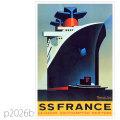 フレンチライン・客船フランスのポスター1979 | レプリカポストカード2026b