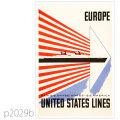 ユナイテッドステーツライン・客船ユナイテッドステーツのポスター | レプリカポストカード2029b
