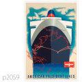 APL・客船プレジデント・クリーブランドのポスター | レプリカポストカード2059