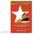 ホワイトスターライン・客船タイタニックのポスター | レプリカポストカード2084