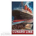 キュナード・客船ルシタニアのポスター | レプリカポストカード2266b