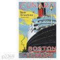 キュナード・ラコニア級客船のポスター | レプリカポストカード2269